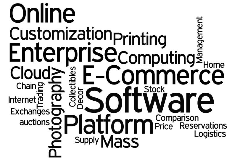 Een word cloud met categorieën waarin Peak Capital II heeft geïnvesteerd.